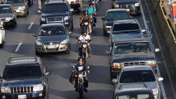 moto en el transito